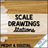 Scale Drawings Print and Digital Stations   Distance Learning