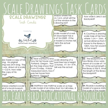 Scale Drawings Task Cards