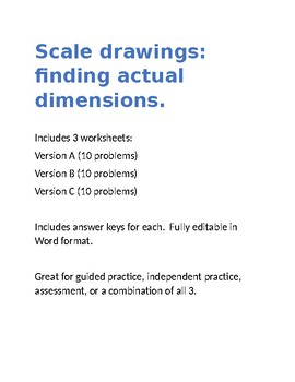 Scale drawings worksheet teaching resources teachers pay teachers scale drawings worksheet scale drawings worksheet malvernweather Images