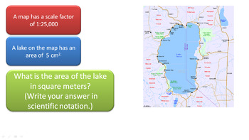 Scale Factor, Area, Scientific Notation and Conversion Problem - Geometry