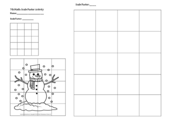 Scale Factor/Dilation Activity (Holiday/Christmas Themed)