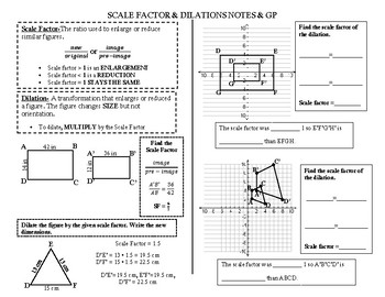 dilation notes teaching resources teachers pay teachers rh teacherspayteachers com Solving Two-Step Equations Study Guide and Intervention Answer Key Adding and Subtracting Decimals Study Guide and Intervention