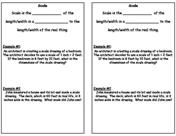 Scale Factor Interactive Notebook Resources