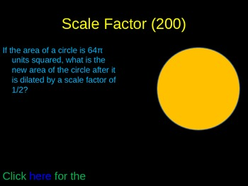 Scale Factor, Reflections, and Translations Review Game
