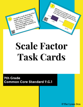 Scale Factor Task Cards