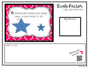 Scale Factor Task Cards (Aligned to CCSS 7.G.1)