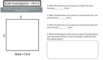 Scale Factors Investigation (PowerPoint Lesson with Printables!)