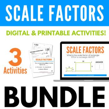 Scale Factors of Similar Figures Geometry Bundle