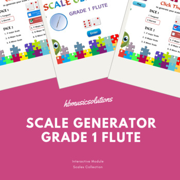 Scale Generator Flute Grade 1 Interactive Music Training Game