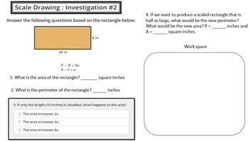 Scale Investigations (Area, Perimeter & Volume)