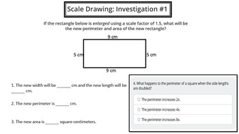 Scale Investigations (Area, Perimeter & Volume)