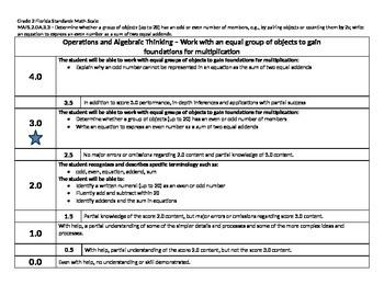 Scale – Math Florida Standards Gr 2 MAFS.2.OA.3.3 Operations Algebraic 2OA33 FS