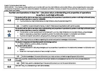 Scale – Math Florida Standards Gr 4 MAFS.4.NBT.2.6 Number