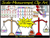 Scale Measurement Clip Art- Balance Clip art- Weight measurement clipart