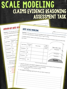 Scale Modeling Claims Evidence Reasoning Assessment Task