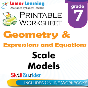 Scale Models Printable Worksheet, Grade 7
