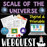 Scale Of The Universe Space Webquest - Digital and Printable!