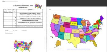 Scale Drawing Project of the United States: A Collaborative 6 Day Project