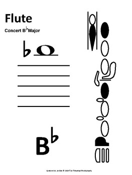 Scale Spell - Concert B-Flat (Worksheet and Test - Full Band)