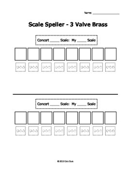 Scale Speller Worksheets - Brass Pack