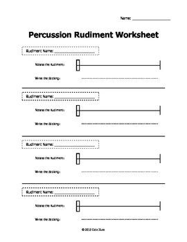 Scale Speller Worksheets - Percussion Pack