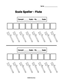 Scale Speller Worksheets - Woodwind Pack