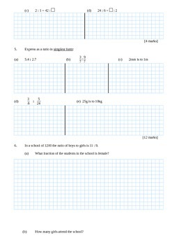 Scale and Ratio Written Test