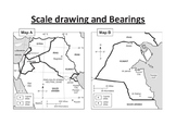 Scale drawing and bearing