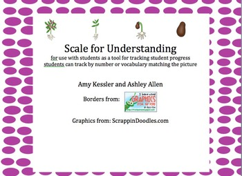 Scale for Understanding: being used with Marzano Teacher E