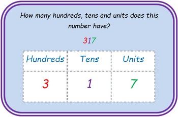 Place value - thousands, hundreds, tens and units / ones task cards