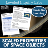 Scaled Properties of Objects in the Solar System Inquiry Labs
