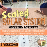 Scaled Solar System Activity: Relative Distances and Sizes