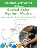 Patterns in the Night Sky: Scaled Solar System Model Activities