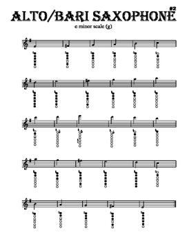 Scales - Alto/Bari Sax - With Fingering Diagrams