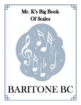 Scales - Baritone BC - With Fingering Diagrams
