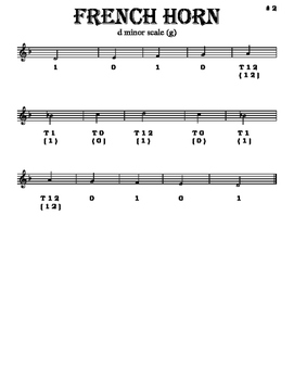 Scales - French Horn - With Fingering Diagrams