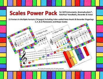 SCALES Power Pack for Orff, Boomwhackers, Bells, Recorder, and Voice