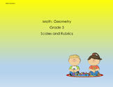 Scales and Rubrics for 3rd Grade Geometry Standards