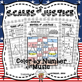 Scales of Justice Color By Symbol (Music)