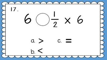 Scaling Fractions Task Cards