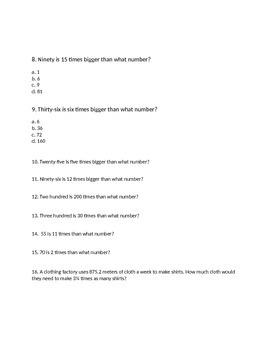 Scaling Worksheet, resizing worksheet, 5 NF B.5.A