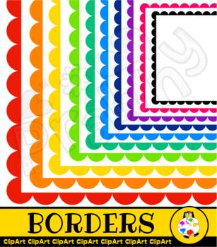 Scallop Border Clip Art Set