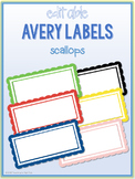 Scallop Border Labels * Editable * Avery 5163 (4x2)
