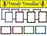 Scallop Borders Clip Art by Dandy Doodles
