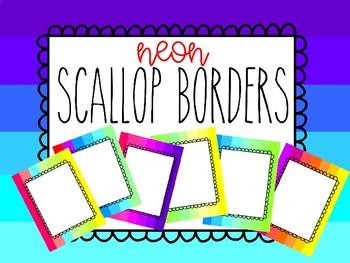 Scallop Borders - Neon
