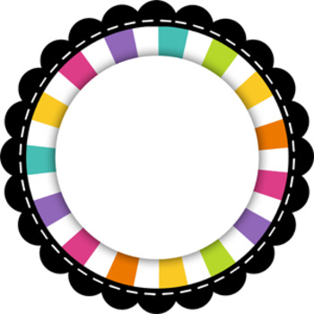 Scallop Circle Tags