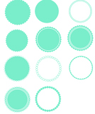 Scallop Circles PNG files - FREE UNTIL 15 SEPTEMBER