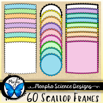 Scallop Frames Mega Pack - Commercial Use Borders - FREE D