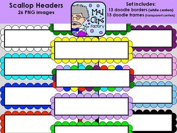 Scallop Headers Set