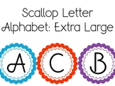 Scallop Letter Alphabet Extra Large